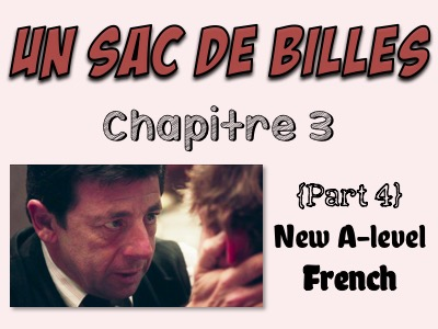 Un sac de billes - Etude du chapitre 3