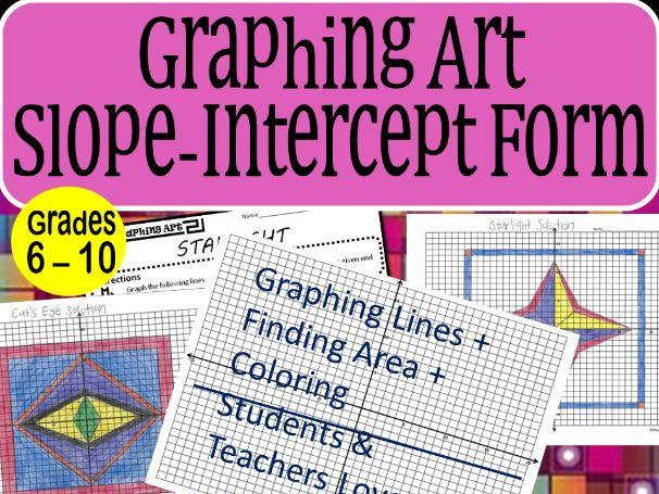 Slope-Intercept Form Graphing Art