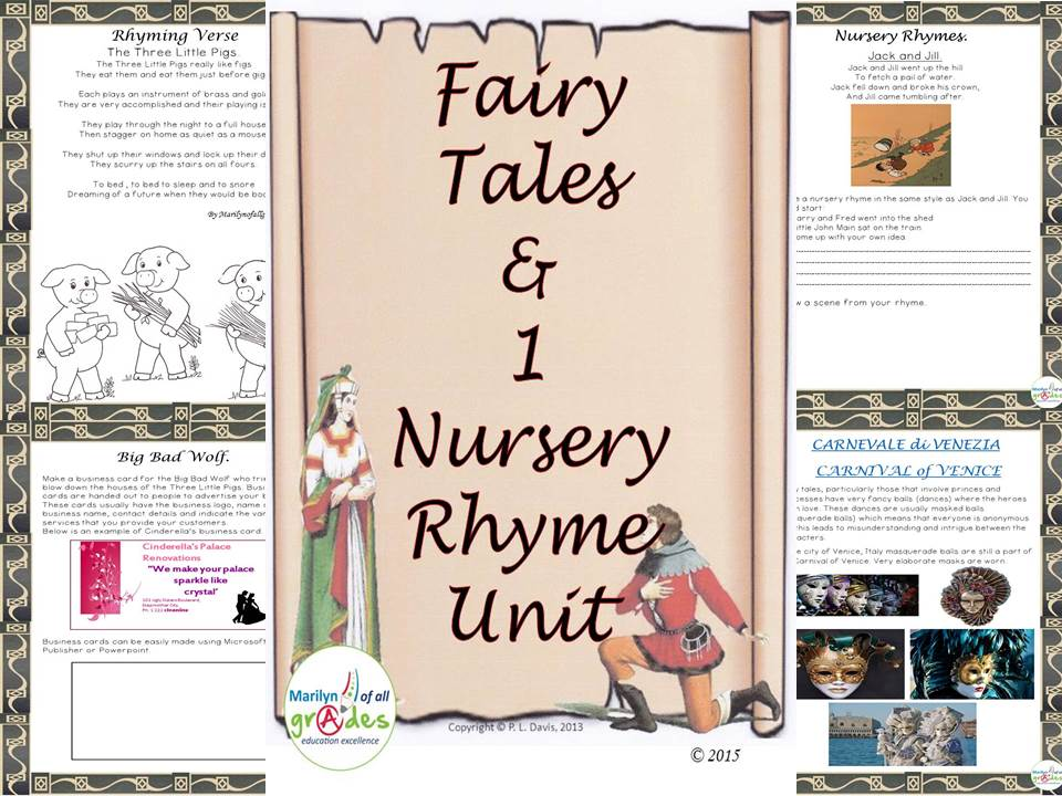 A Fairy Tale [& 1 Nursery Rhyme] Language Arts and Research Unit.