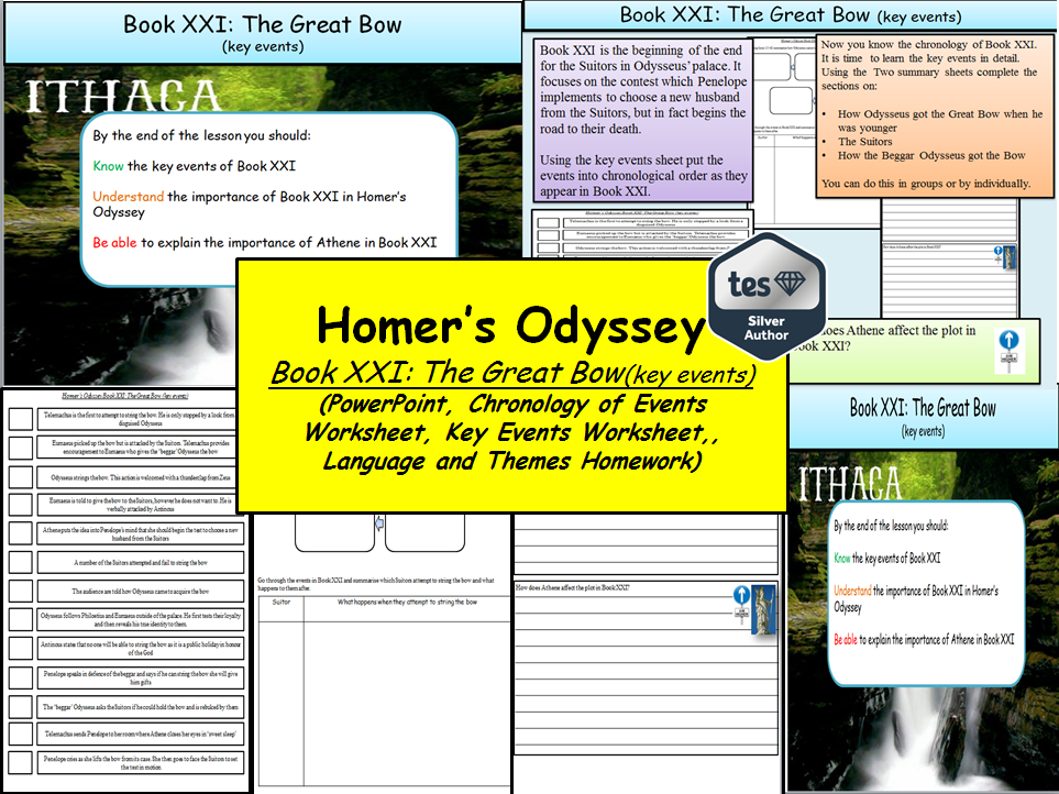 Homer's Odyssey – Book XXI: The Great Bow (key events)