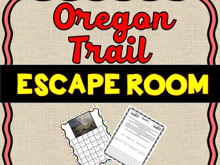 Oregon Trail Escape Room - U.S. History- Westward Expansion