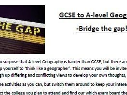 GCSE to A-level progression activities