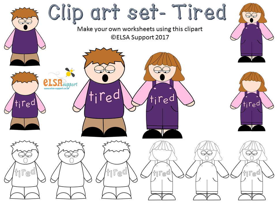 Emotions Clip art - Tired