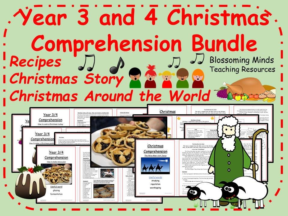 Christmas comprehension mega-bundle - year 3 and 4