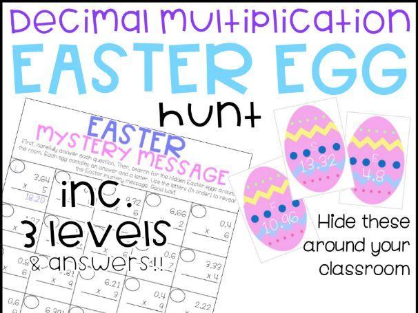 Easter Egg Hunt Multiplying Decimals