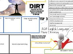 AQA Language Paper 2 reading section DIRT worksheet / activity DOUBLE SIDED