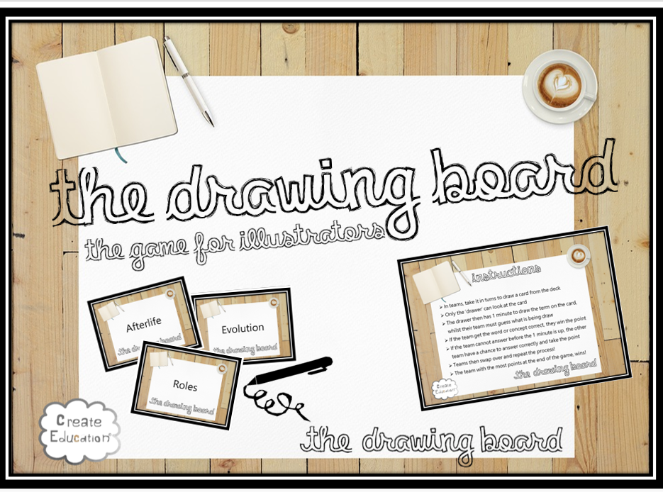 Drawing Board: The Word Illustration Game for Revising Any Key Vocabulary! Template Version!