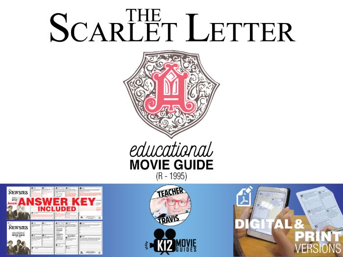 The Scarlet Letter Movie Guide   Questions   Worksheet (R - 1995)