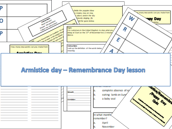 Easy read - Armistice Day - Remembrance Day lesson
