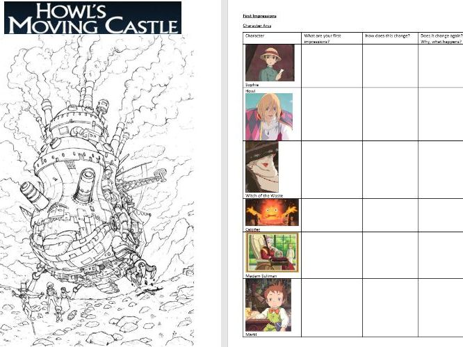 Howl's Moving Castle Activity Booklet