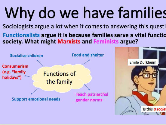 4 Lesson Introduction to Family and Households (A-Level AQA Sociology)