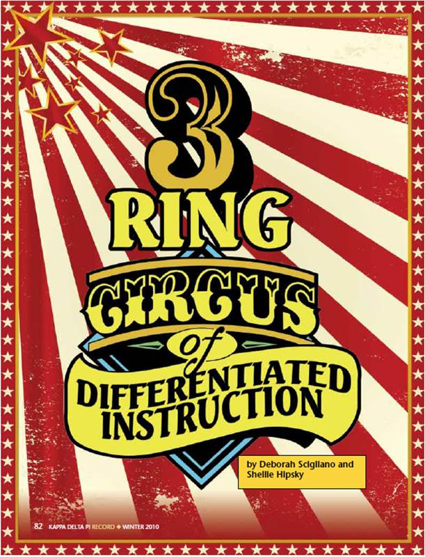 3 Ring Circus of Differntiated Instruction