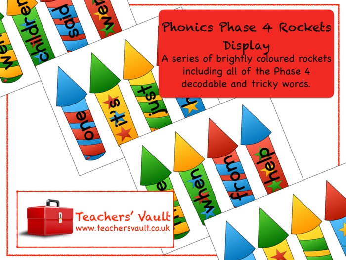 Phonics Phase 4 Rockets Display