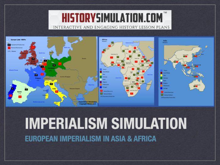 European Imperialism Map Activity Simulation