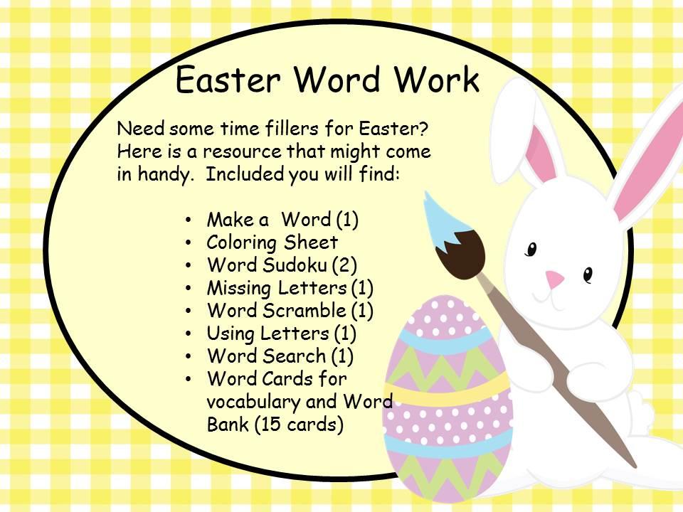 Easter Word Work - Worksheets