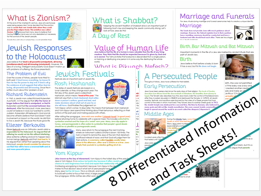 Judaism: Practices and the Modern World Unit (Tasks/Information)