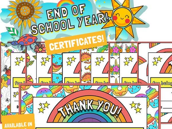 End Of Year Superstar Certificates – Colour
