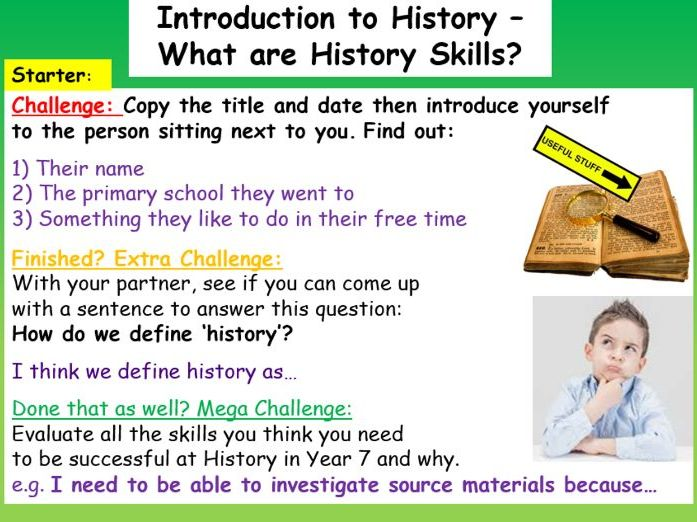 History Introduction Lesson
