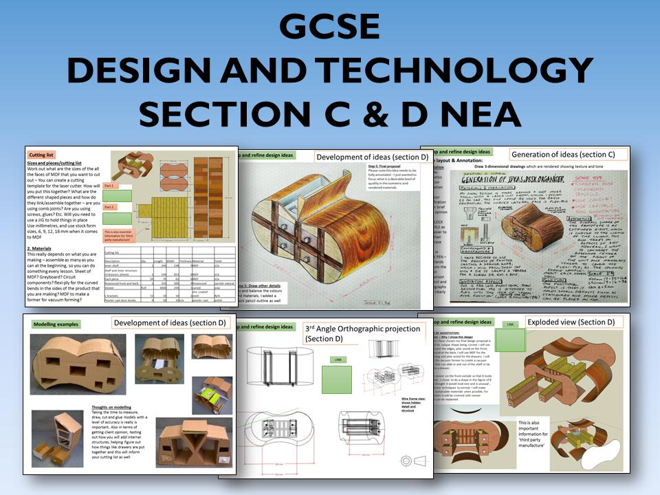 2021 AQA DT GCSE NEA Guide to Section C & D