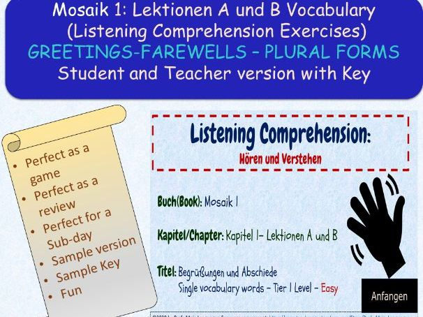 Deutsch A1: Begrüßungen und Abschiede Listening Comprehension