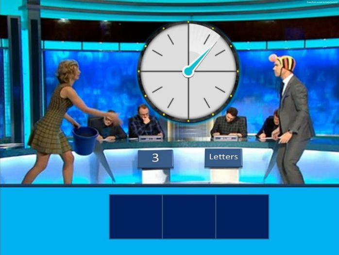 Countdown - Literacy Word Game with animated clock [Based on the Channel 4 TV show]