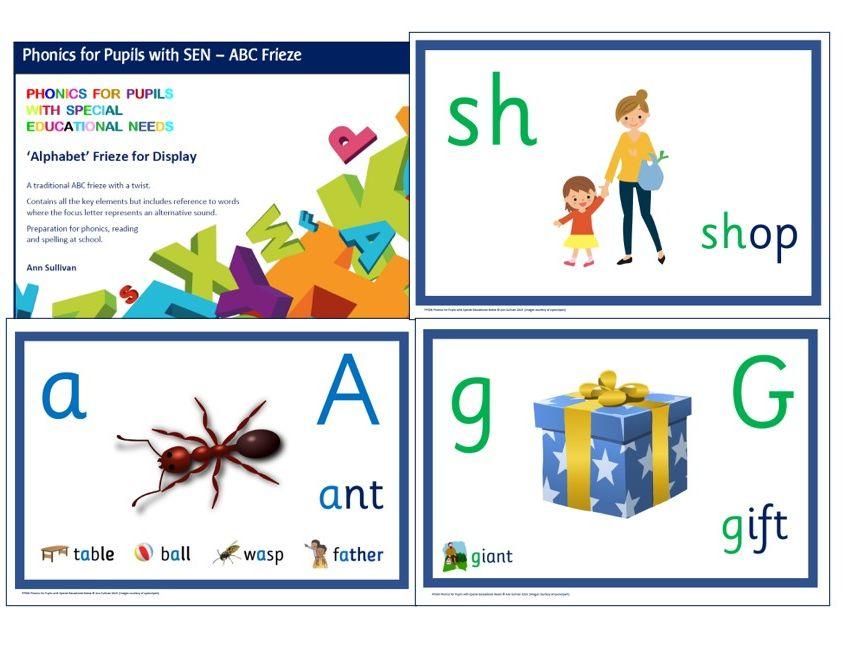 ABC Alphabet Frieze - Phonics based - Phonics for SEN