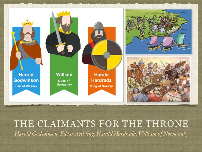 Who should be the next king: Harold Godwinson, Harald Haadrada or William - Year 7