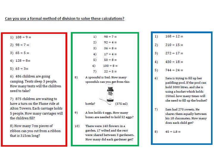 A Worksheet on Division (Formal Method)  (2)