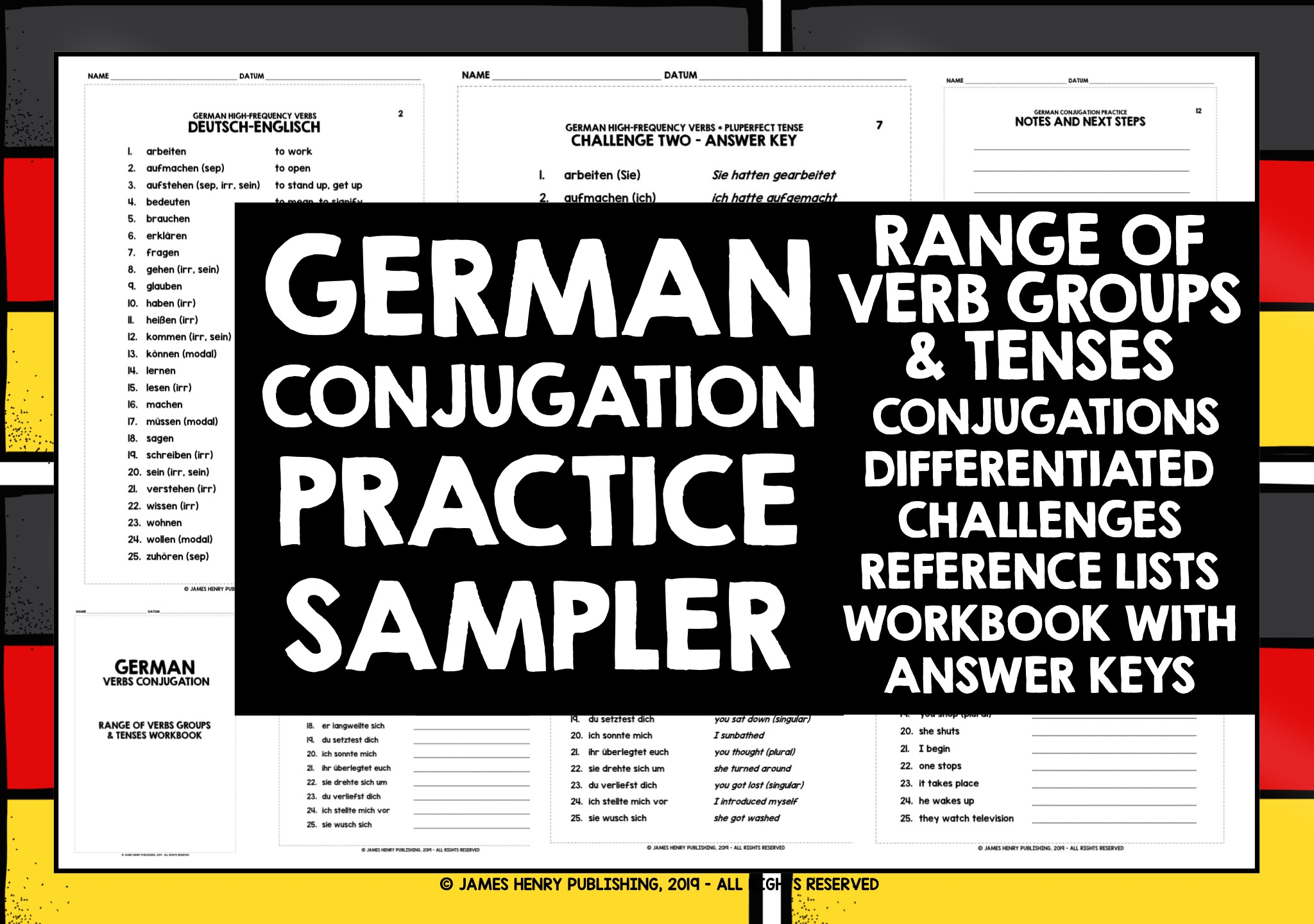 Easy Learning German Complete Grammar, Verbs and Vocabulary (3 ...