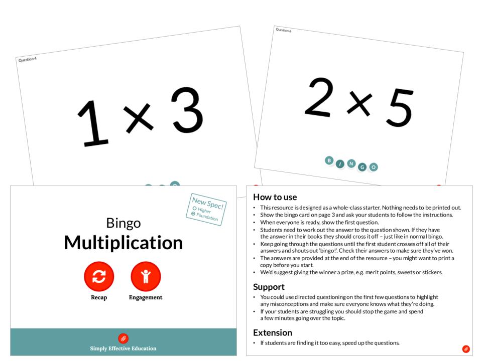 Multiplication (Bingo)