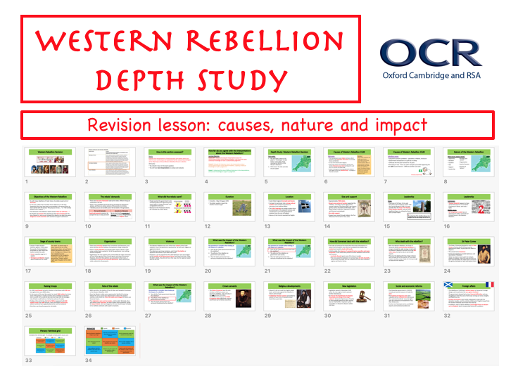 OCR Western Rebellion REVISION