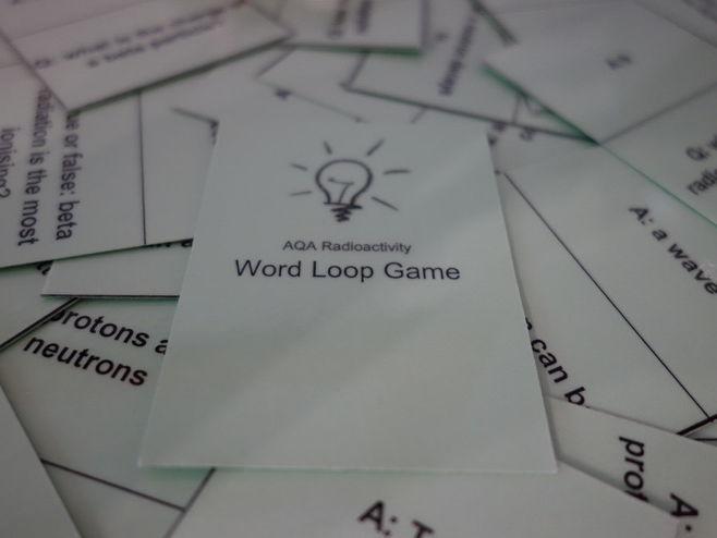 Radioactivity word loop game questions