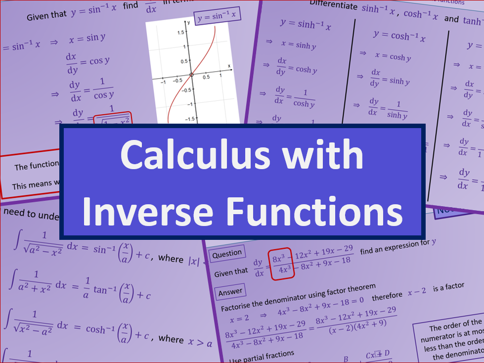 Calculus inverse trigonometric and hyperbolic functions - Further maths A level A2