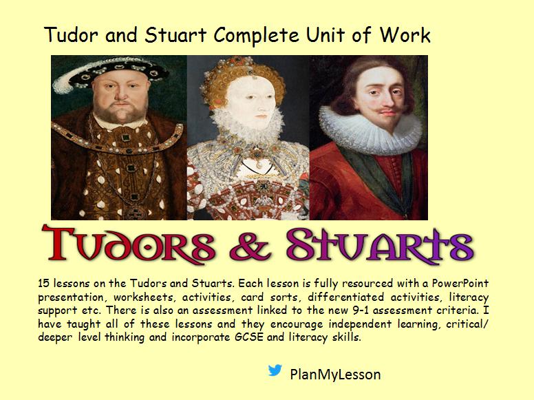 Tudor & Stuart Complete Unit of Work (15 fully resourced)