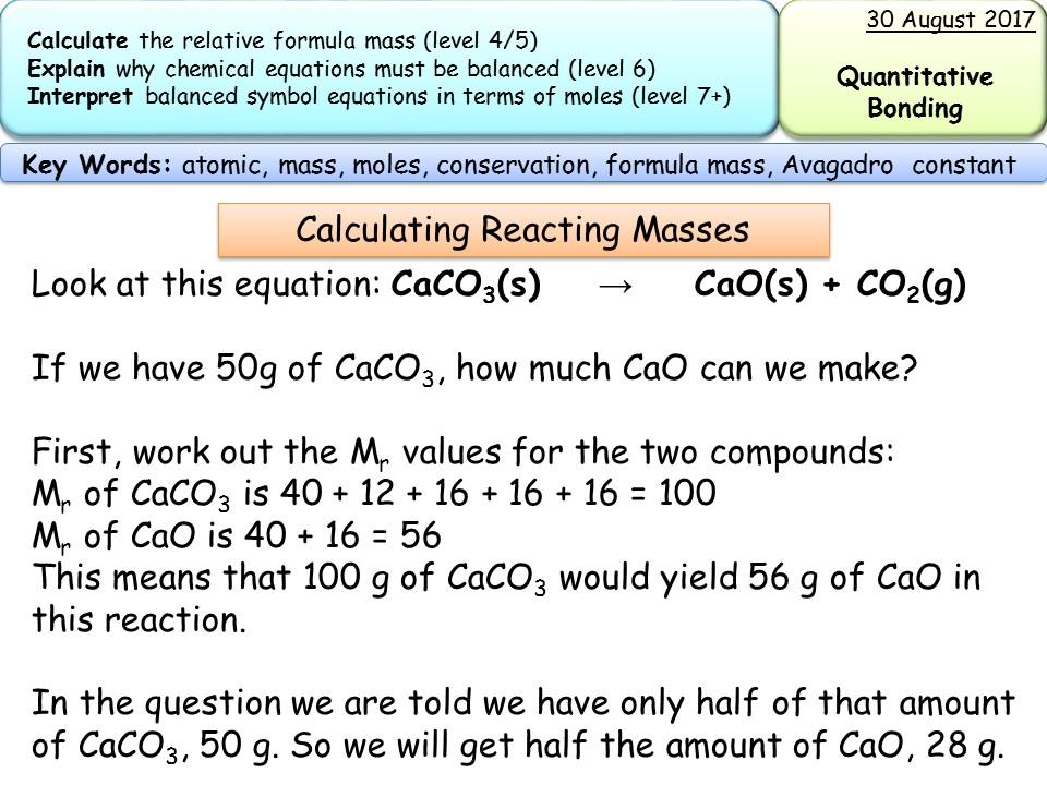 New AQA GCSE trilogy/chemistry- reacting masses and ...
