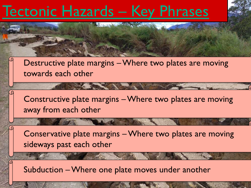 Geography - Key Stage 4 - Natural Hazards - Plate Tectonics (Powerpoint Version)
