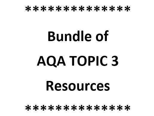 GCSE AQA B3 TOPIC BUNDLE