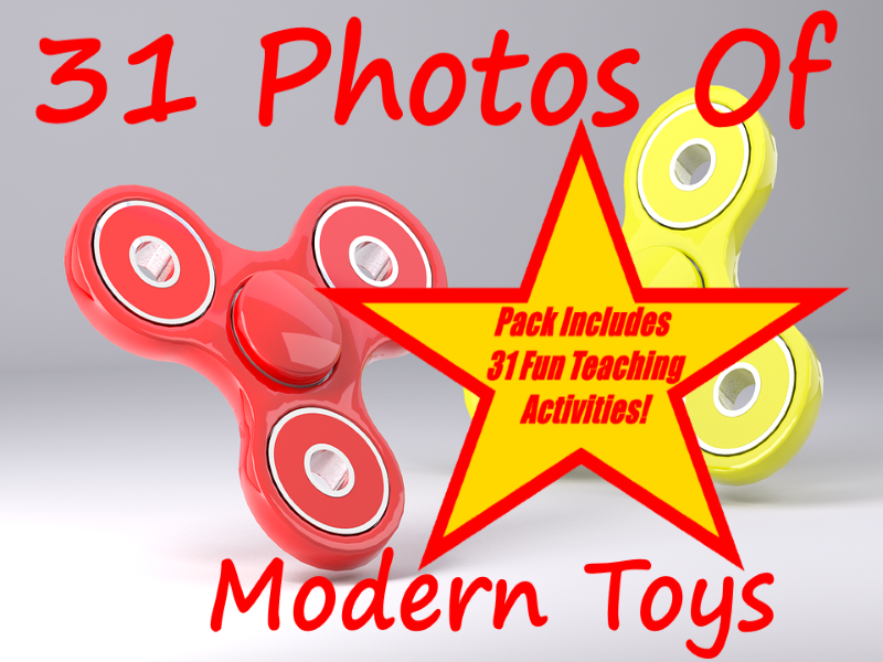 31 Photos Of Modern Toys PowerPoint Presentation + 31 Fun Teaching Activities For These Cards