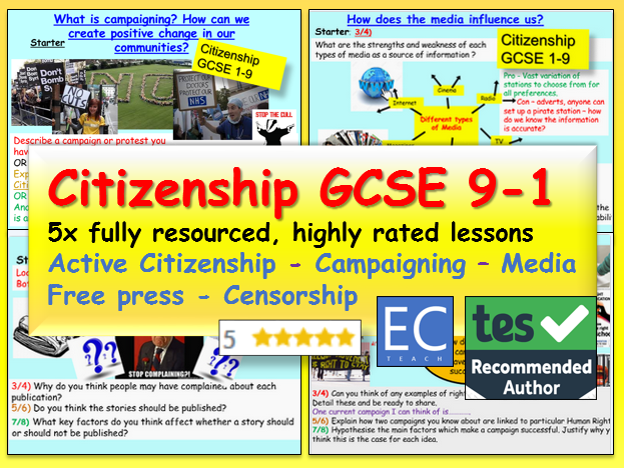 Citizenship GCSE 9-1 Media / Campaigning