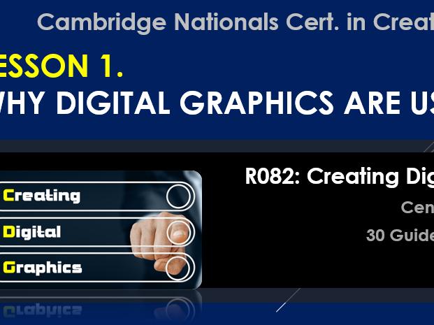 OCR CAMBRIDGE NATIONALS in Creative iMedia R082 Creating Digital Graphics LO1 (Lessons 1-6)