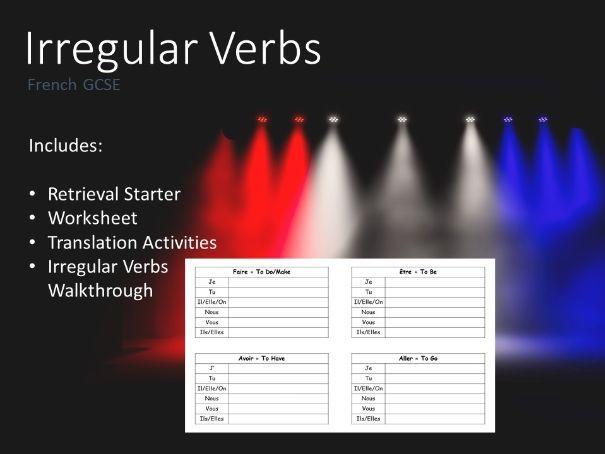 Irregular Verbs I French I AQA GCSE