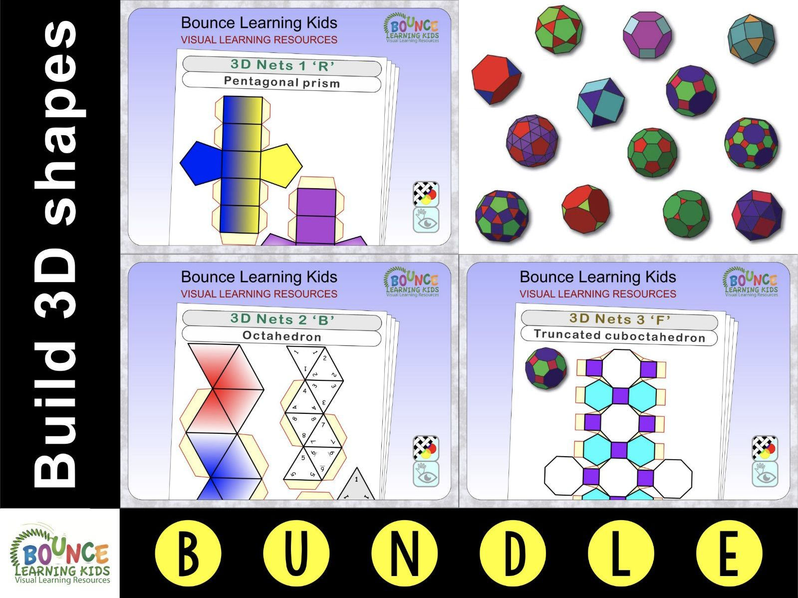 3D nets (3D shapes)