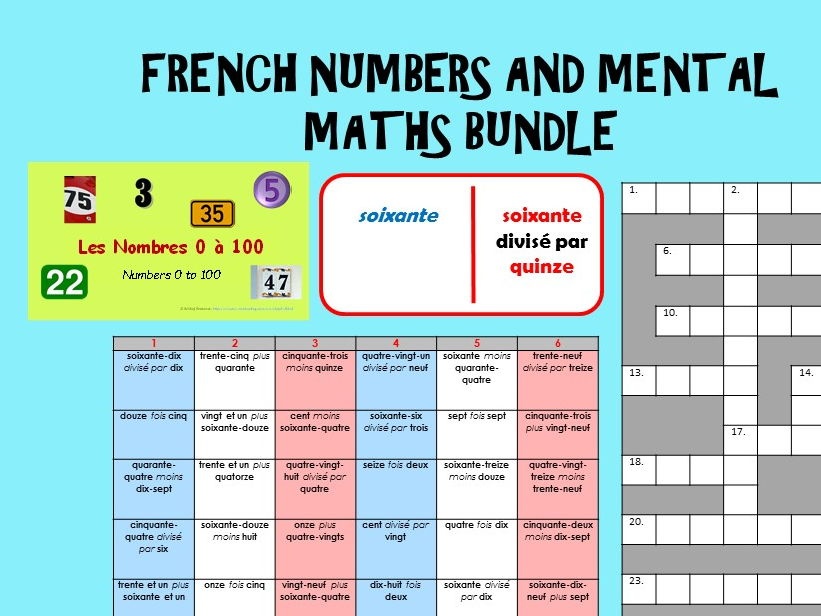 French Numbers / Maths Bundle