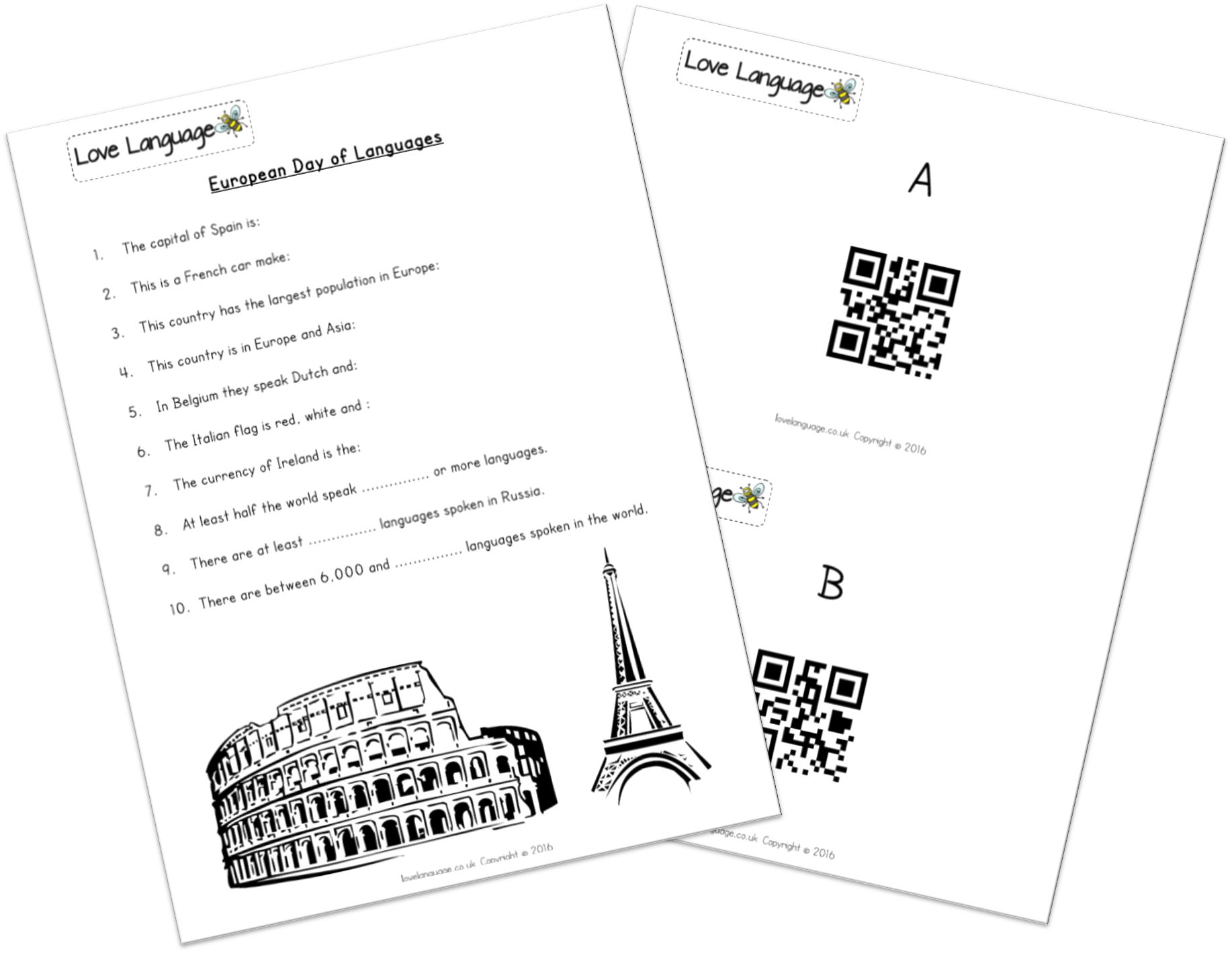 European Day of Languages QR Code Quiz