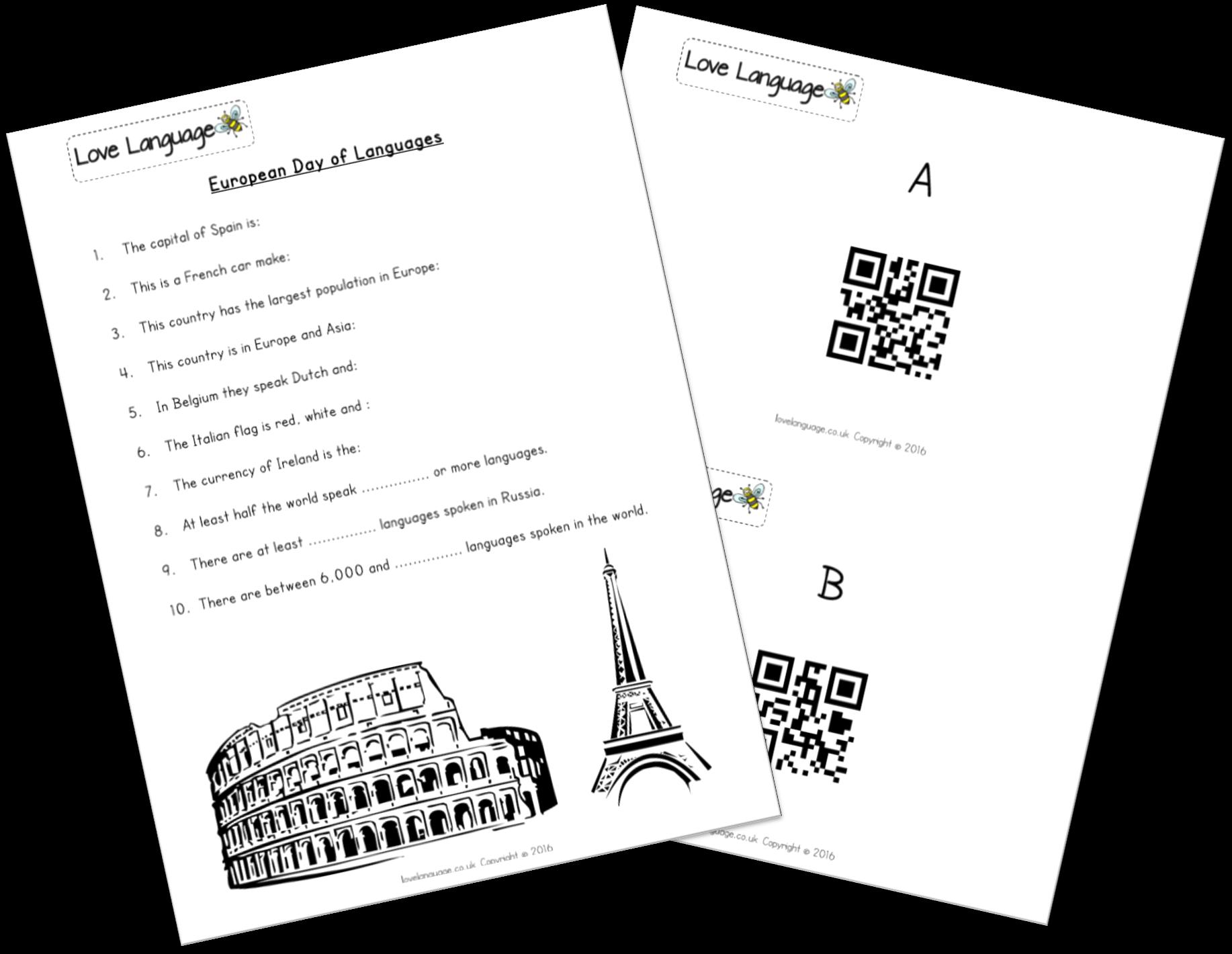 European Day of Languages QR Code Quiz - updated!