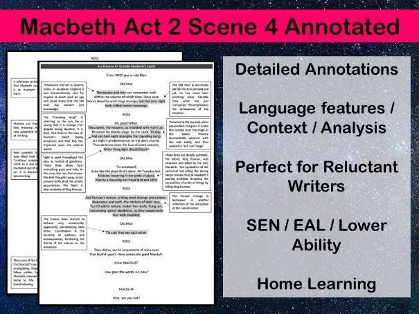 Macbeth Act 2 Scene 4 Annotated
