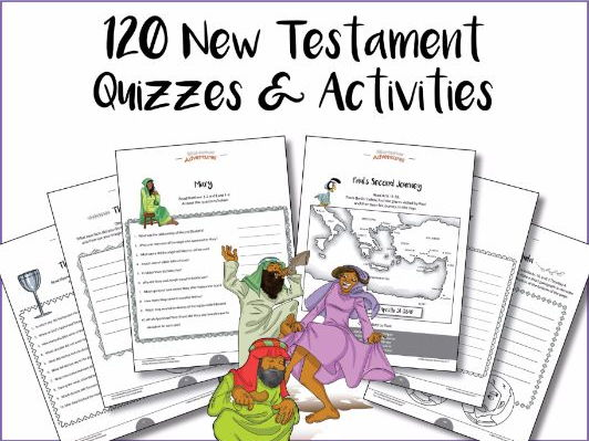 120 New Testament Quizzes & Activities: Activity Book Bundle