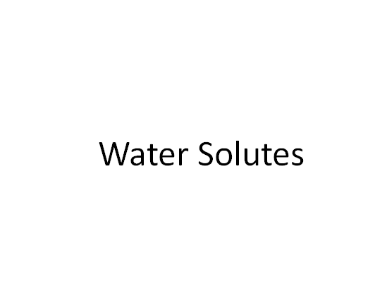 Water Solutes