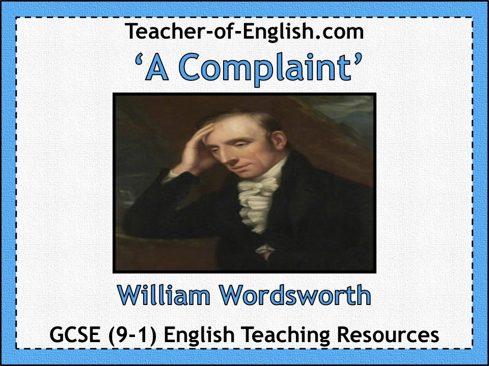 A Complaint - Wordsworth (GCSE Poetry)