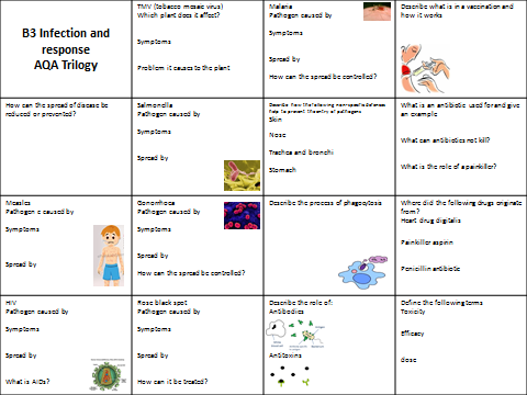 AQA Trilogy B3 Infection and Response Revision